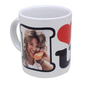 White mug with printing